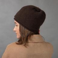 Коричневая шапка шерсть яка