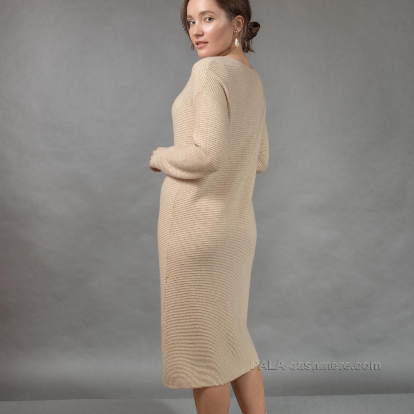 Cashmere dress is light