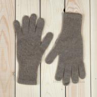 Бежевые кашемировые перчатки