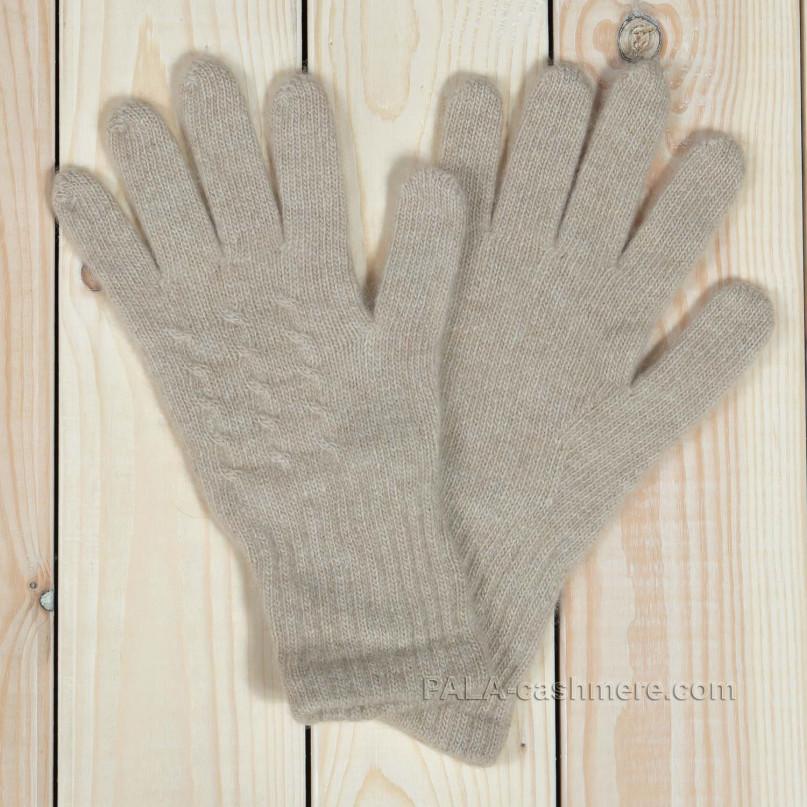 Светлые кашемировые перчатки