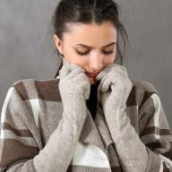 Перчатки женские из шерсти яка длинные