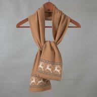 Теплый шарф верблюжья шерсть