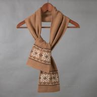 Трикотажный шарф из верблюжьей шерсти