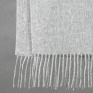 Серый шарф из шерсти яка