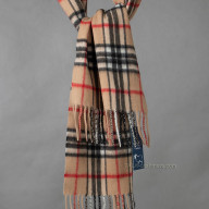 Beige cashmere to cage scarf