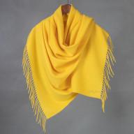 Желтый кашемировый палантин