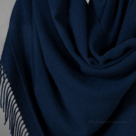 Палантин из кашемира темно-синий