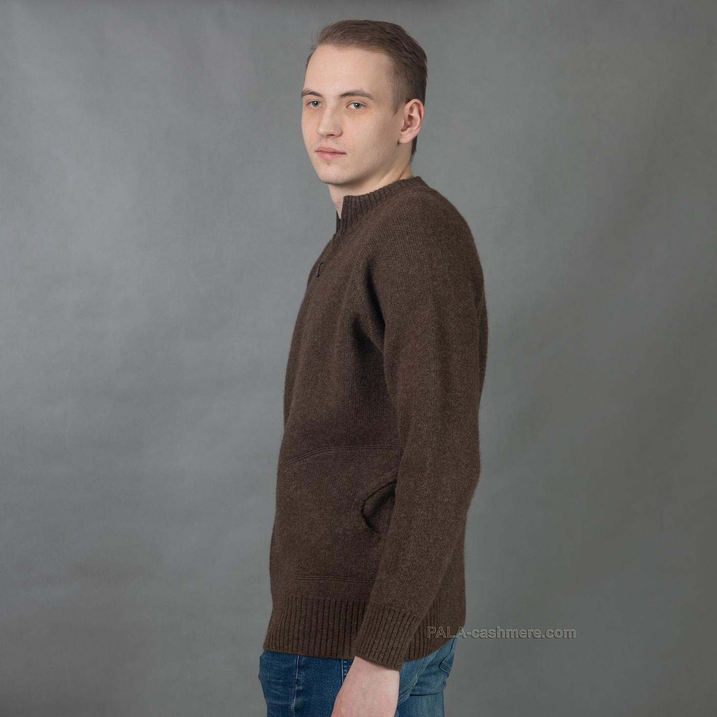 Джемпер на молнии из шерсти ягнят