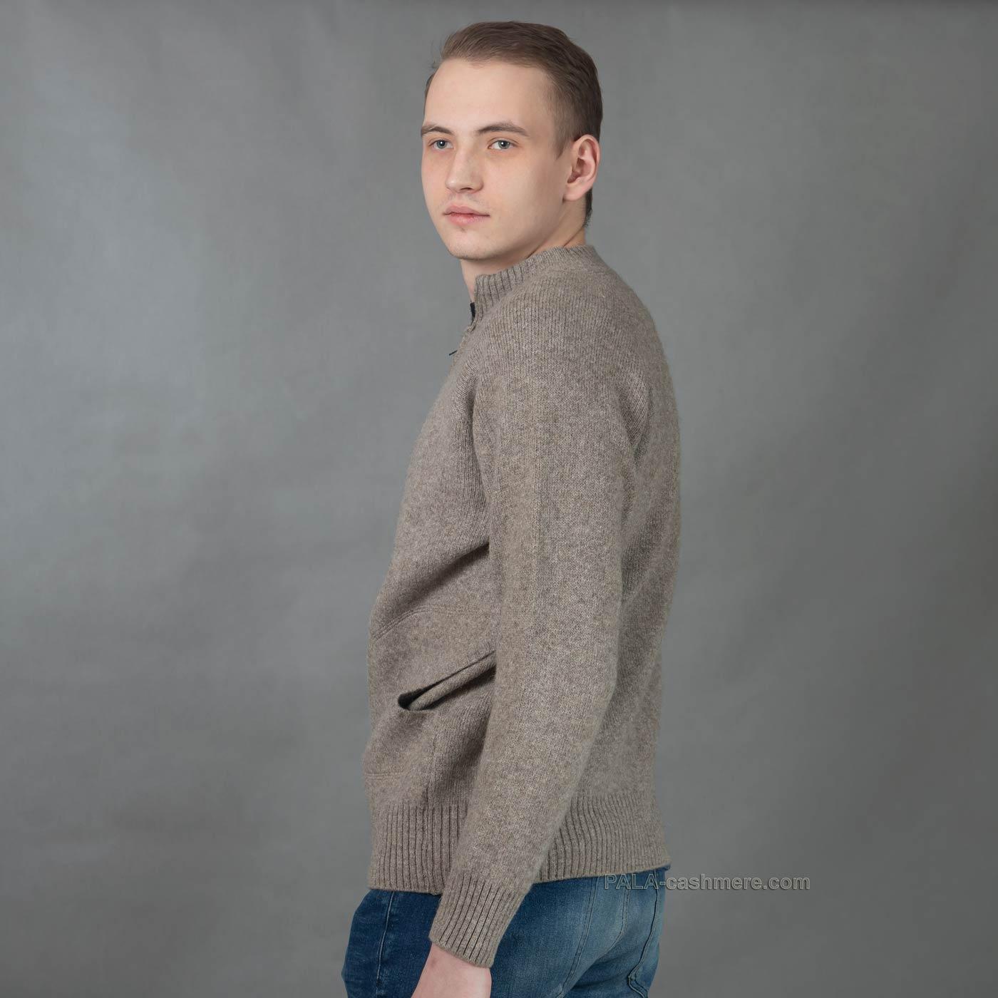 Джемпер из шерсти на молнии
