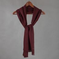 Бордовый шарф из шерсти