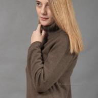 Yak cappuccino wool dress