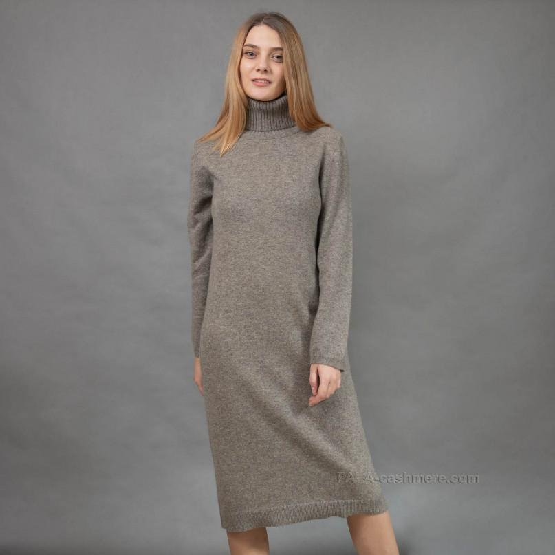 Yak wool gray dress