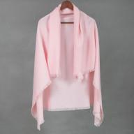 Розовый шерстяной платок