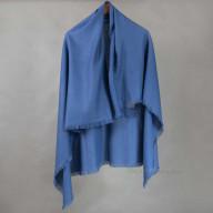Шерстяной женский платок синий