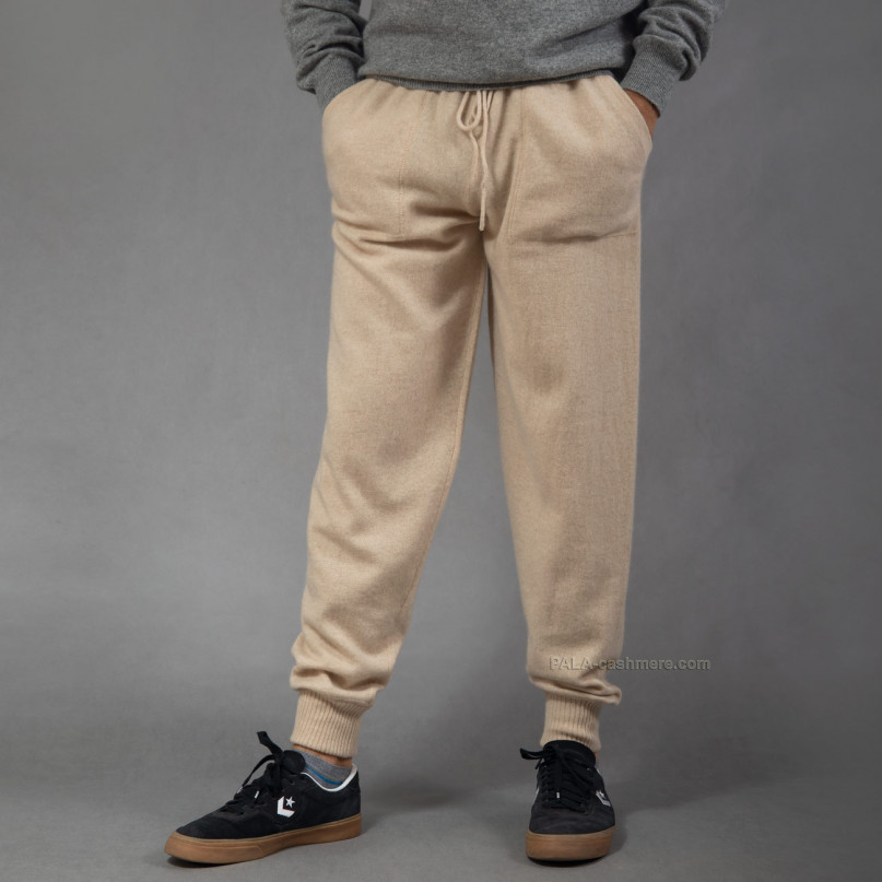 Светло-бежевые брюки кашемир