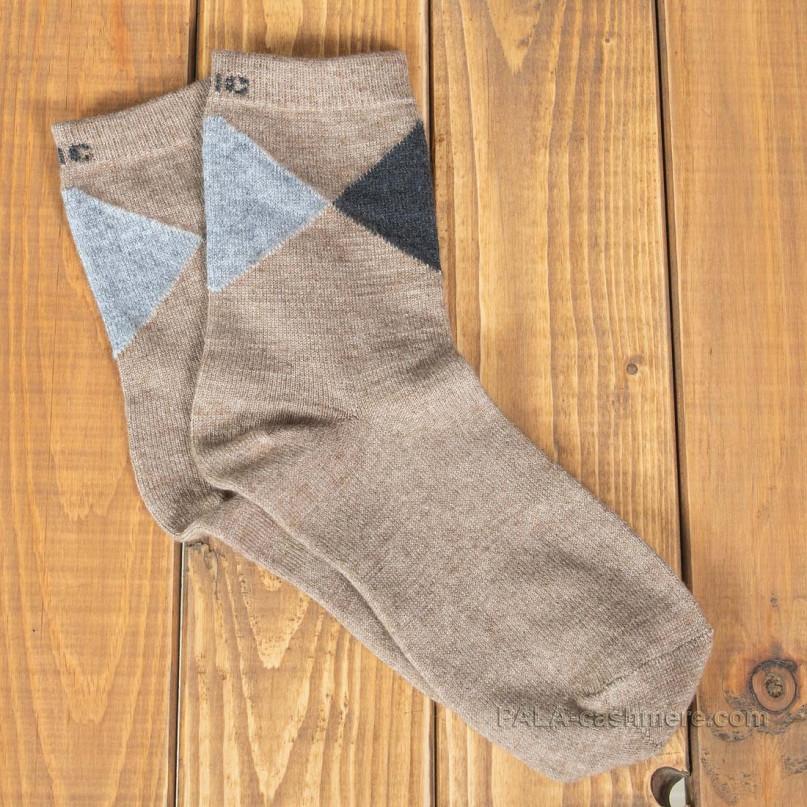 Тонкие бежевые носки из шерсти