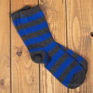 Сине-черные носки в полоску из шерсти