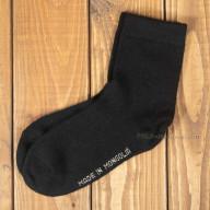 Тонкие черные носки из шерсти