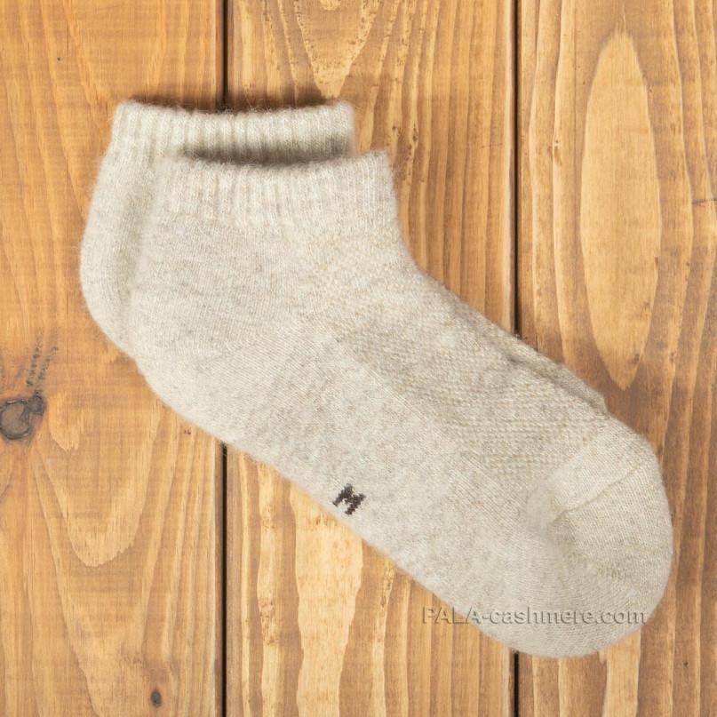 Низкие светло-бежевые носки из шерсти