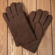 Перчатки из овчины коричневые