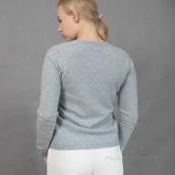 Голубой пуловер из кашемира