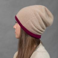 Двойная шапка из кашемира