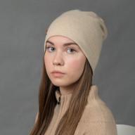 Бежевая шапка из кашемира