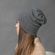 Трикотажная кашемировая шапочка