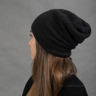 Темно серая кашемировая шапка