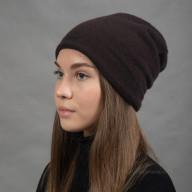 Двухслойная кашемировая женская шапка