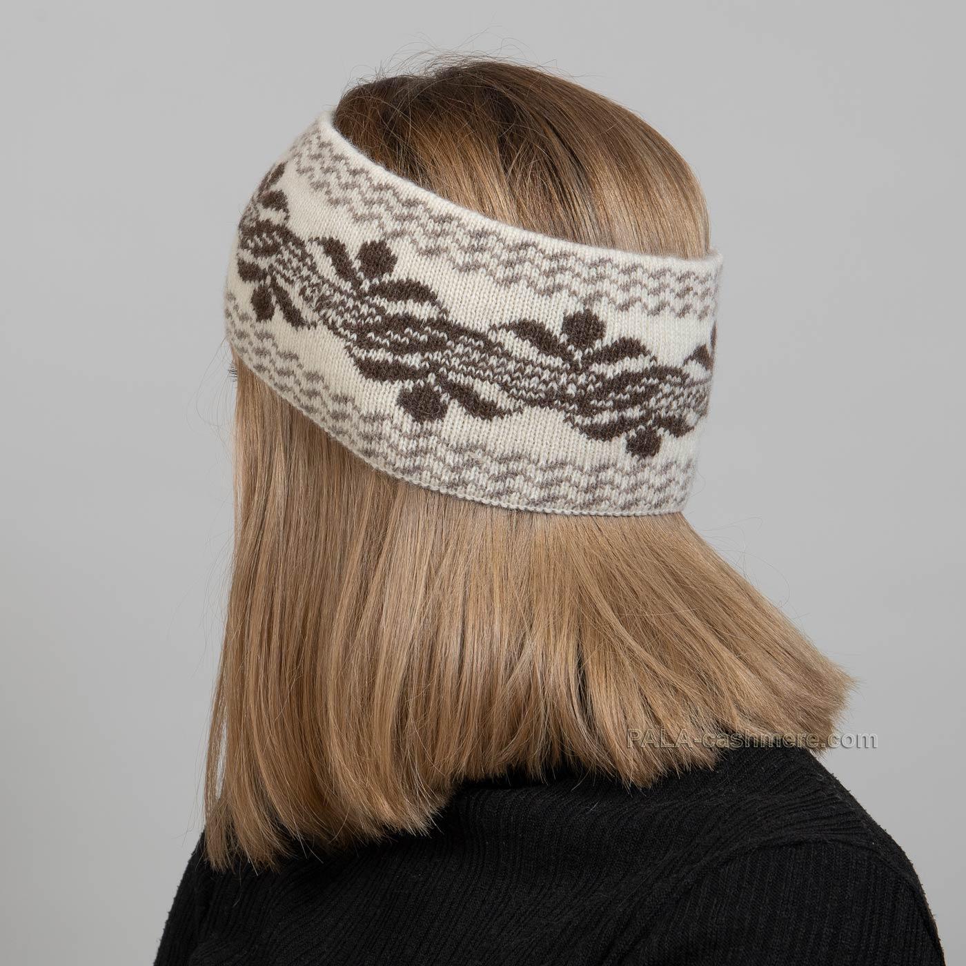 Шерстяная повязка на голову