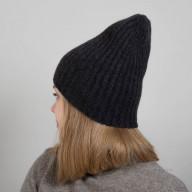 Темно-серая кашемировая шапка