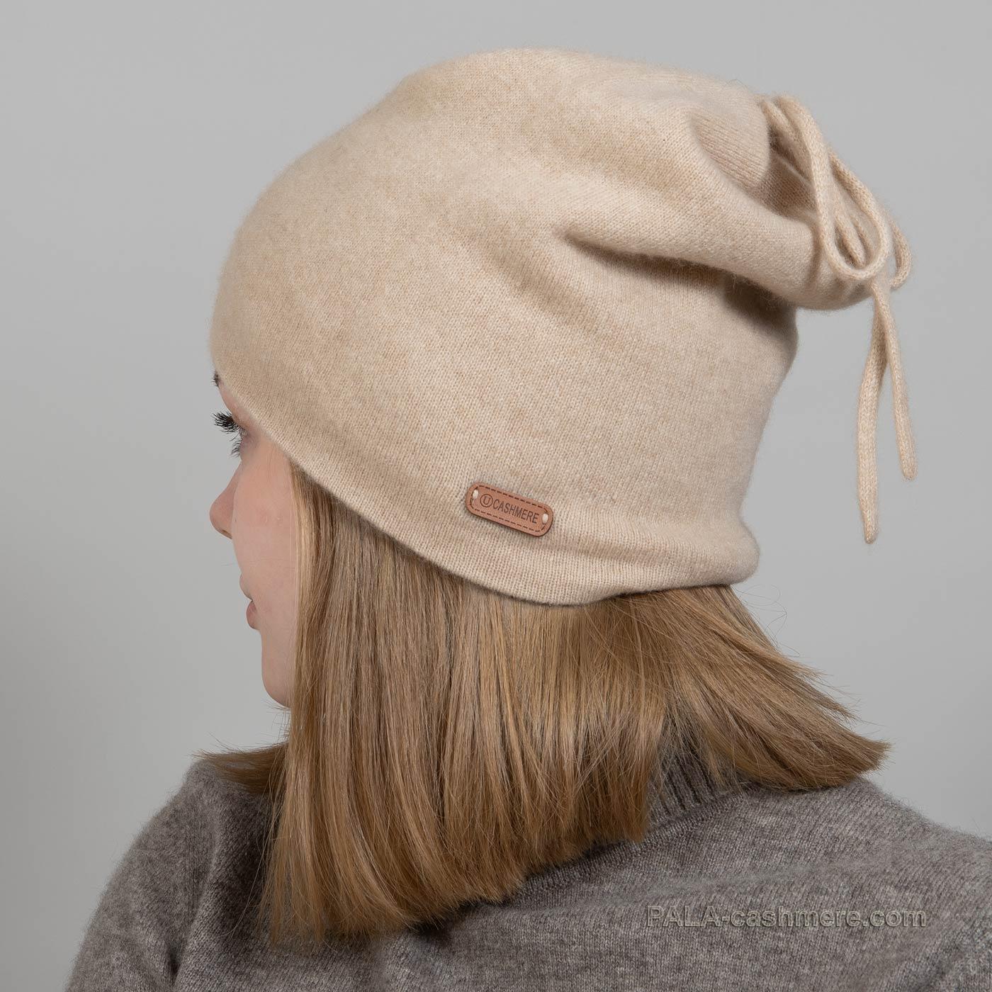 Однотонная шапка из кашемира