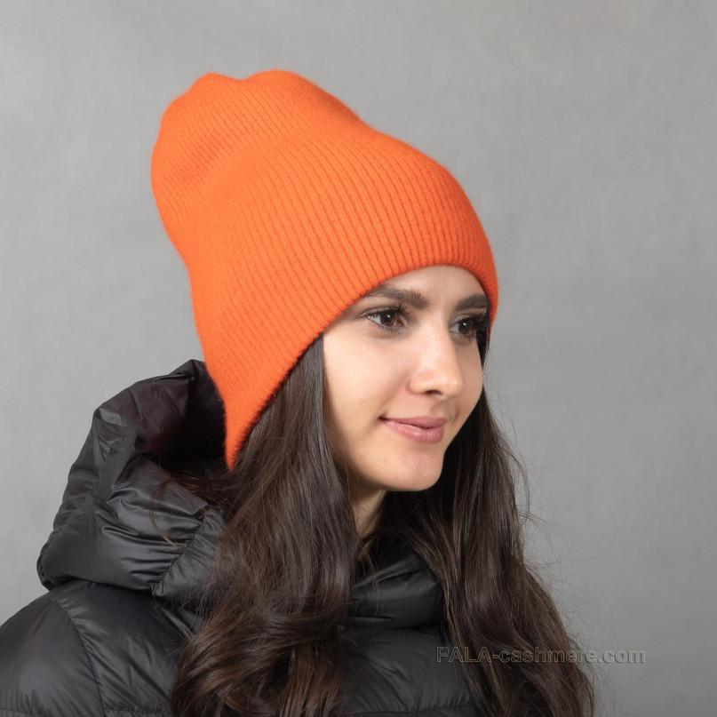 Теплая кашемировая шапочка