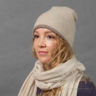 Женская шапка из кашемира