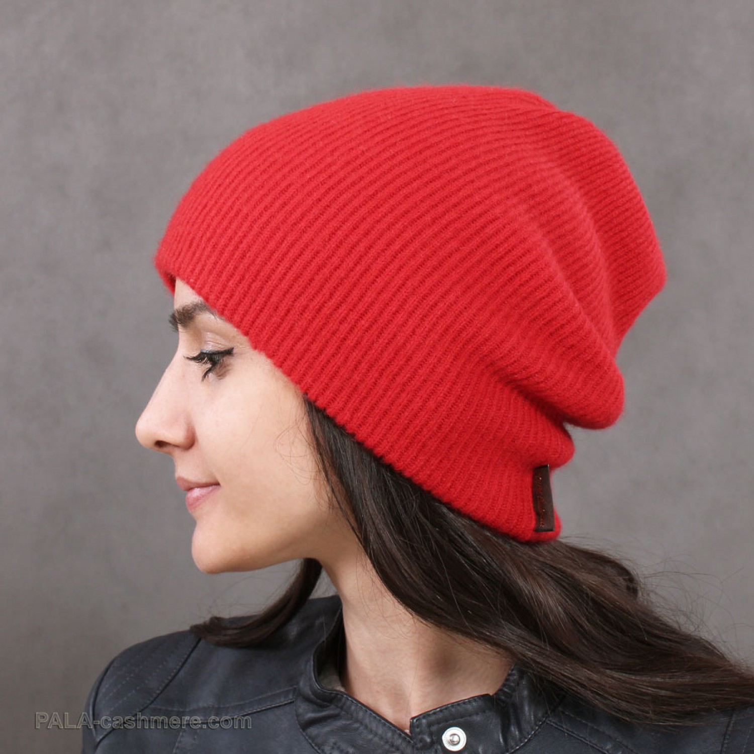 Cashmere red double hat