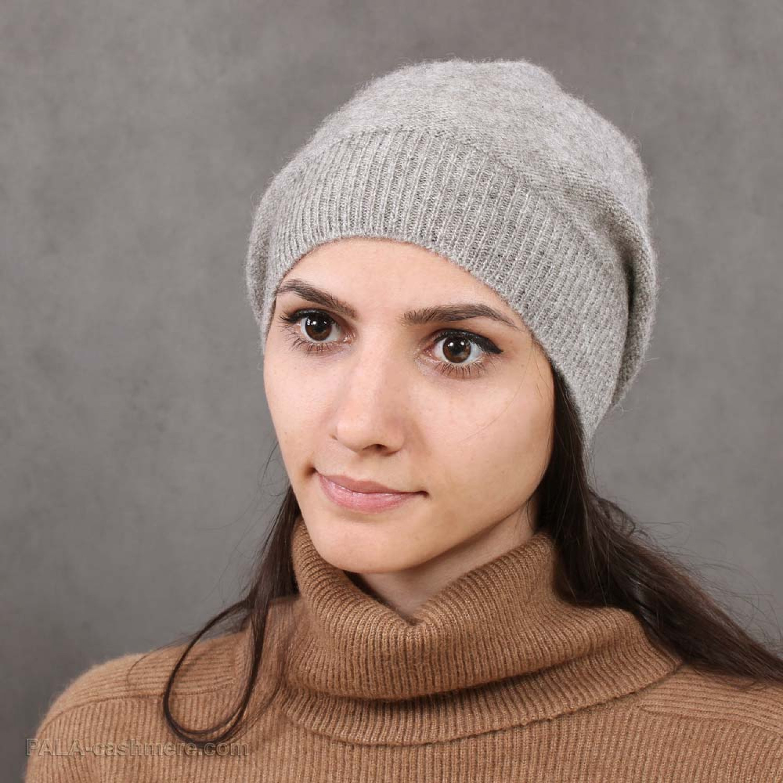 "Yak Wool Grey Hat  ""Spring-1"""