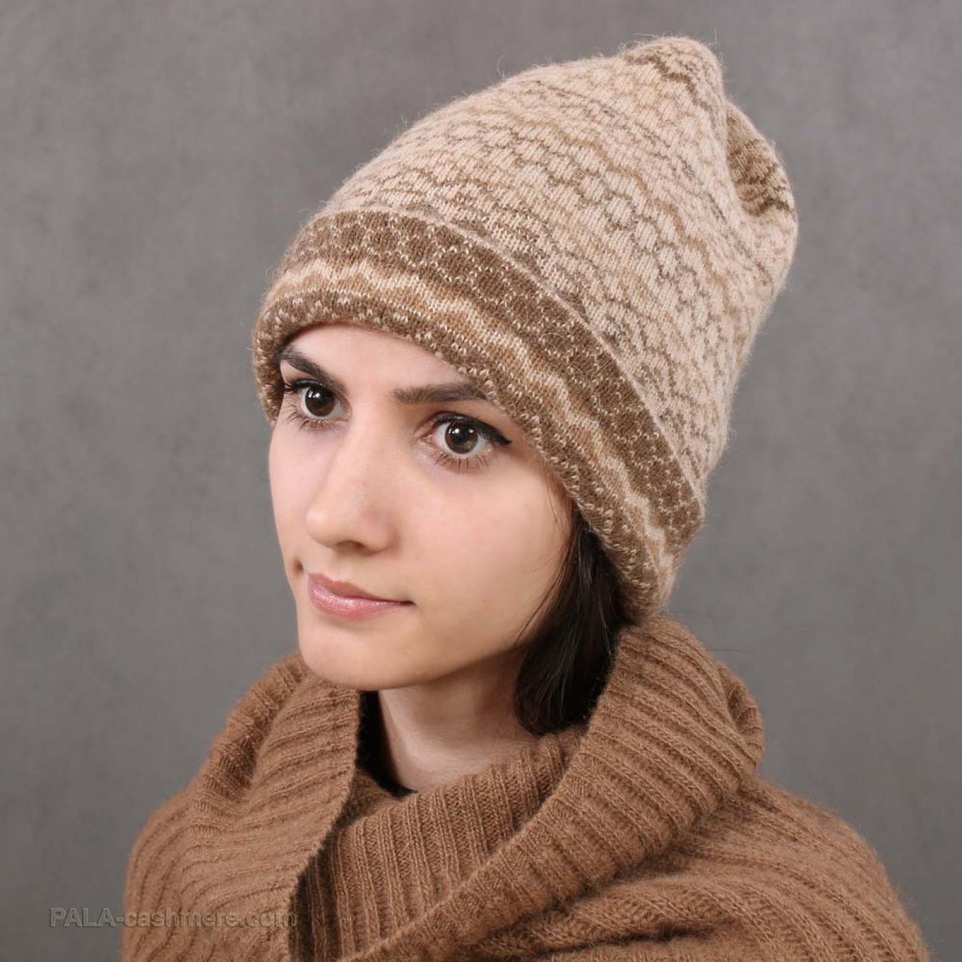 Camel wool hat ornament