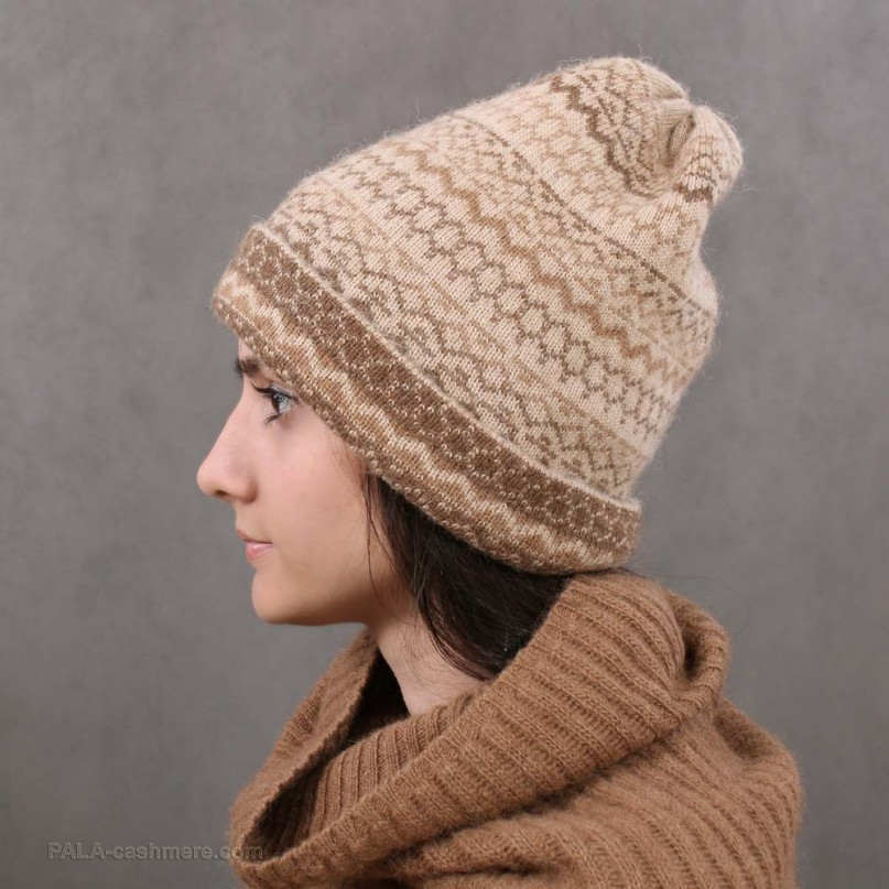Camel wool hat ornament