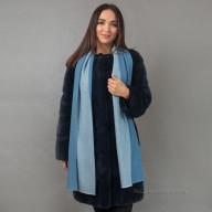 Голубой кашемировый шарф двусторонний