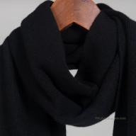Вязаный черный шарф кашемир