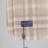 Кашемировый шарф в мелкую клетку
