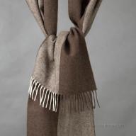 Шарф из шерсти яка коричневый/бежевый меланж