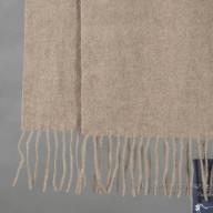 Cashmere scarf dark beige