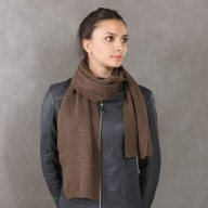 Yak wool brown scarf