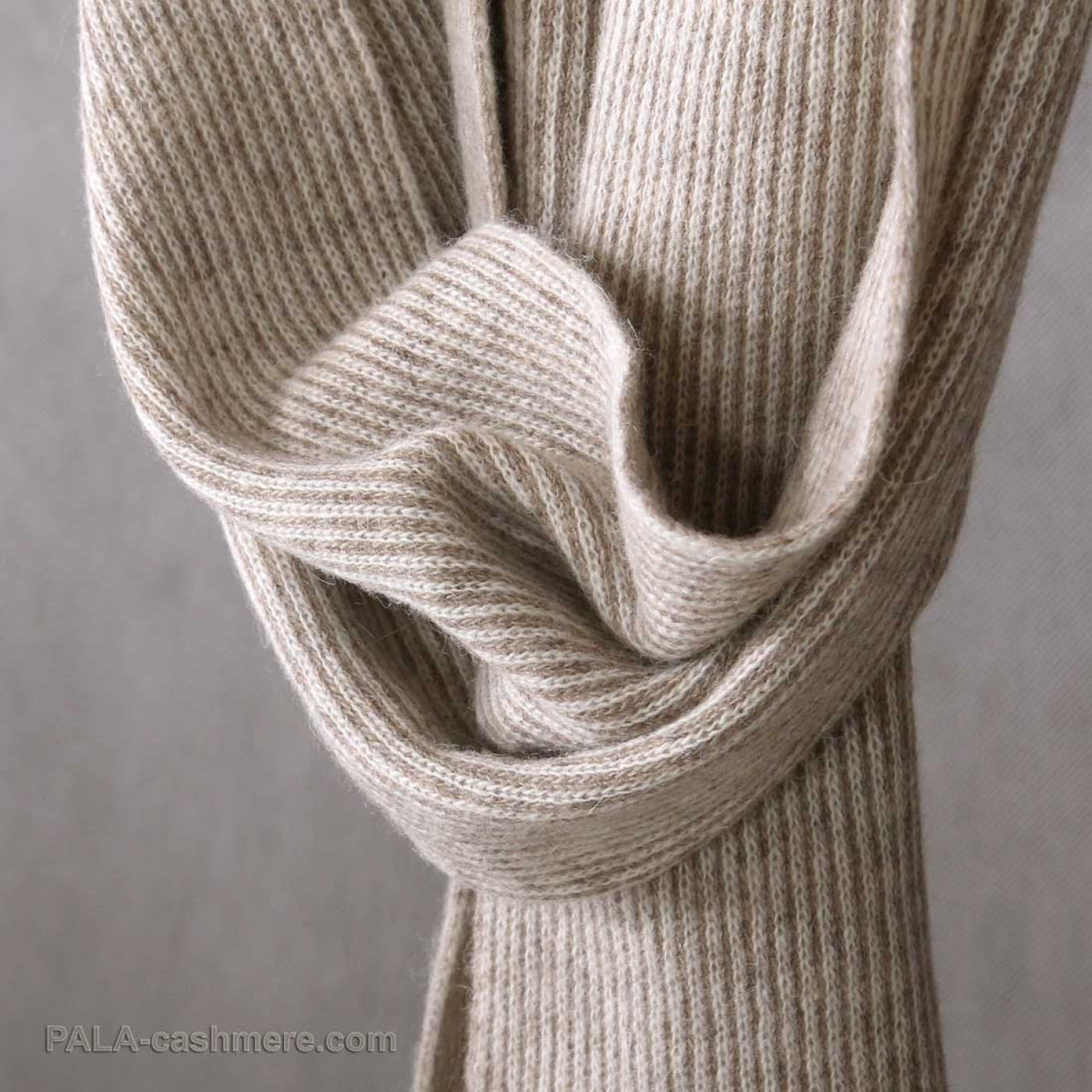 Yak wool scarf  in fine stripes