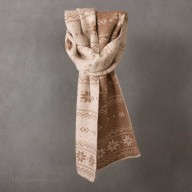 Camel wool scarf  with snowflake ornament