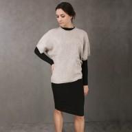 Sweatshirt for women of wool yak sleeve 3/4