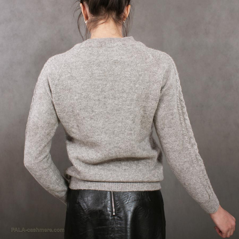 "Cardigan female grey from yak wool with a pattern ""rhombus"""