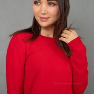 Кашемировый джемпер женский красный